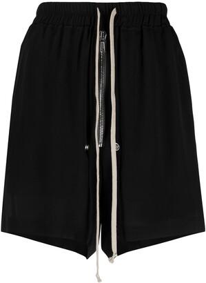 Rick Owens Bela drawstring-waist track shorts