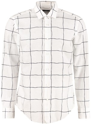HUGO BOSS Checked Linen-cotton Shirt