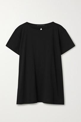 Helmut Lang Open-back Pima Cotton And Modal-blend T-shirt - Black
