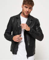 Superdry Washed Leather Slim Moto Jacket