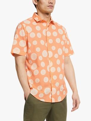 John Lewis & Partners Horton Print Short Sleeve Shirt