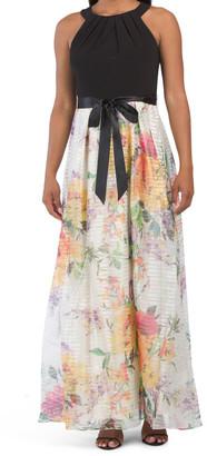 Flat Organza Floral Dress