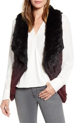 La Fiorentina Ombre Genuine Rabbit Fur Vest
