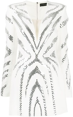 David Koma Embellished Mini Dress