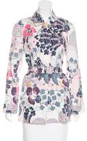 Kenzo Abstract Print Belted Coat w/ Tags
