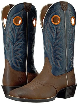 Ariat Sport Outrider (Pinecone/Federal Blue) Cowboy Boots