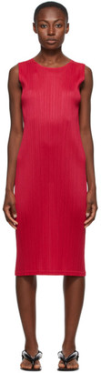 Pleats Please Issey Miyake Pink New Colorful Basics 2 Tank Dress