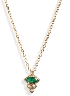 Jennie Kwon Designs Marquise Emerald Crown Necklace