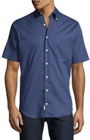 Peter Millar What Goes Up Short-Sleeve Shirt, Navy