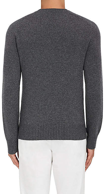 Tomas Maier MEN'S STOCKINETTE-STITCHED CASHMERE SWEATER