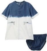 7 For All Mankind Denim Dress & Bloomer Set (Baby Girls 12-24M)