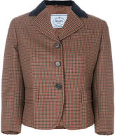 Prada velvet collar jacket