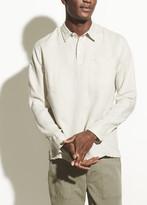 Long Sleeve Linen Polo