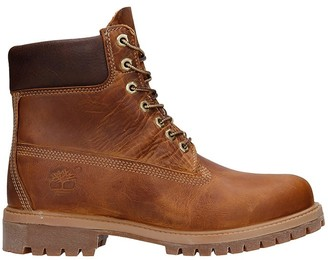 Timberland Heritage 6in Combat Boots In Brown Leather