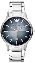 Emporio Armani Ar2472 Degrade Dial Date Bracelet Strap Watch, Silver/blue