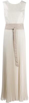 Peserico pleated panelled dress