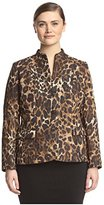 Lafayette 148 New York Plus Women's Andy Leopard Jacket