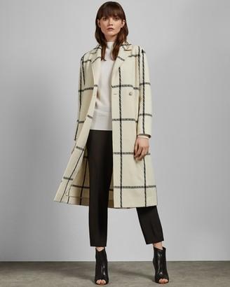 Ted Baker SONIQ Checked wool long coat