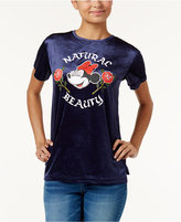 Disney Juniors' Minnie Mouse Velvet Graphic T-Shirt