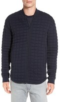 French Connection Men's 'Joy Stick' Quilted Knit Bomber Jacket