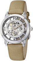 Stuhrling Original Sthrling Womens Tan Leather Strap Skeleton Automatic Watch