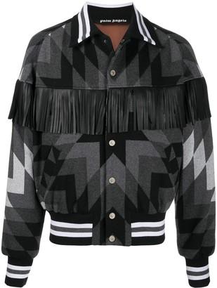 Palm Angels Arizona fringed bomber jacket