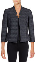 Kasper Suits Twill Denim-Look Notch Jacket