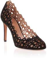 Alaia Black suede laser-cut pump