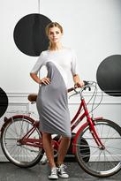 Shabby Apple Barcelona Sheath Dress Grey & White