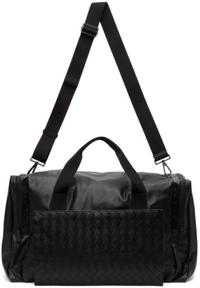 Bottega Veneta Black Intrecciato Packable Duffle Bag