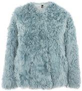 Topshop Cropped Shearling Coat