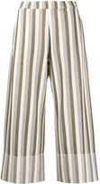 Jil Sander striped wide-leg trousers