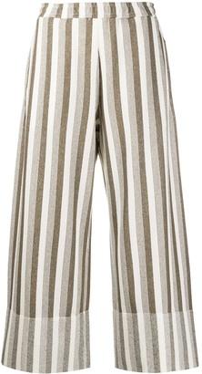 Jil Sander Striped Wide-Leg Trousers