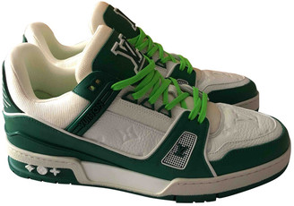 Louis Vuitton Trainer Green Leather Trainers