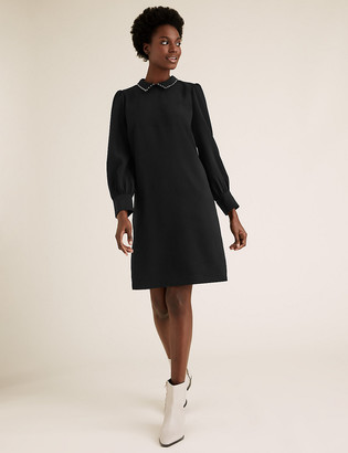 Marks and Spencer Collared Knee Length Shift Dress