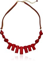Barse Sea Bamboo Leather Necklace