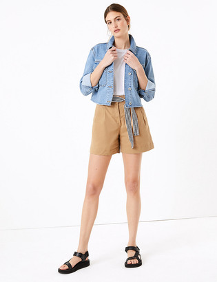 Marks and Spencer Cotton Pleat Front Chino Shorts