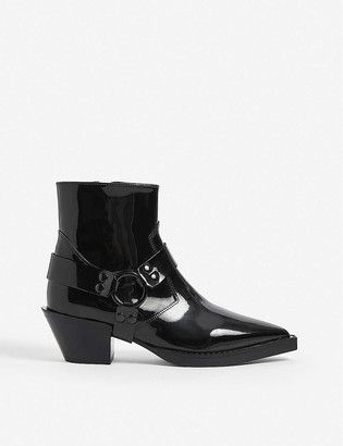 The Kooples Patent leather ankle boots