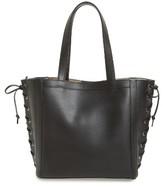 Max Mara Small Leather Shopper - Black