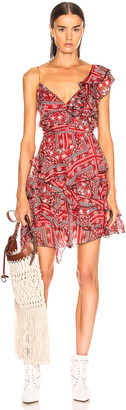 Isabel Marant Enta Dress in Red | FWRD