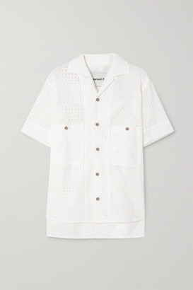 ANDERSSON BELL Andrea Broderie Anglaise Cotton Shirt - White