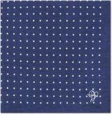 Canali Polka Dot Silk Pocket Square