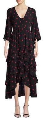 Ganni Button-Front Sheath Dress