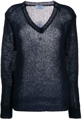 Prada Open Knit Jumper