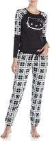 Hello Kitty Two-Piece Plaid Top & Pants Pajama Set