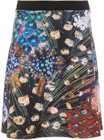 Clover Canyon Etched Blooms Flared Skirt