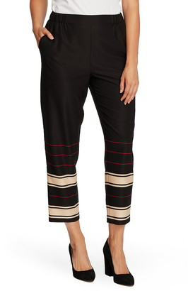 Vince Camuto Linear Stripe Pull-On Pants