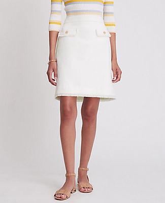 Ann Taylor Fringe Button Pocket Skirt