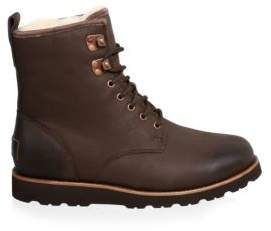 UGG Hannen UGGpure-Lined Leather Combat Boots