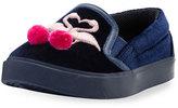 Sophia Webster Kingston Flamingo Sneaker, Blue, Toddler/Youth